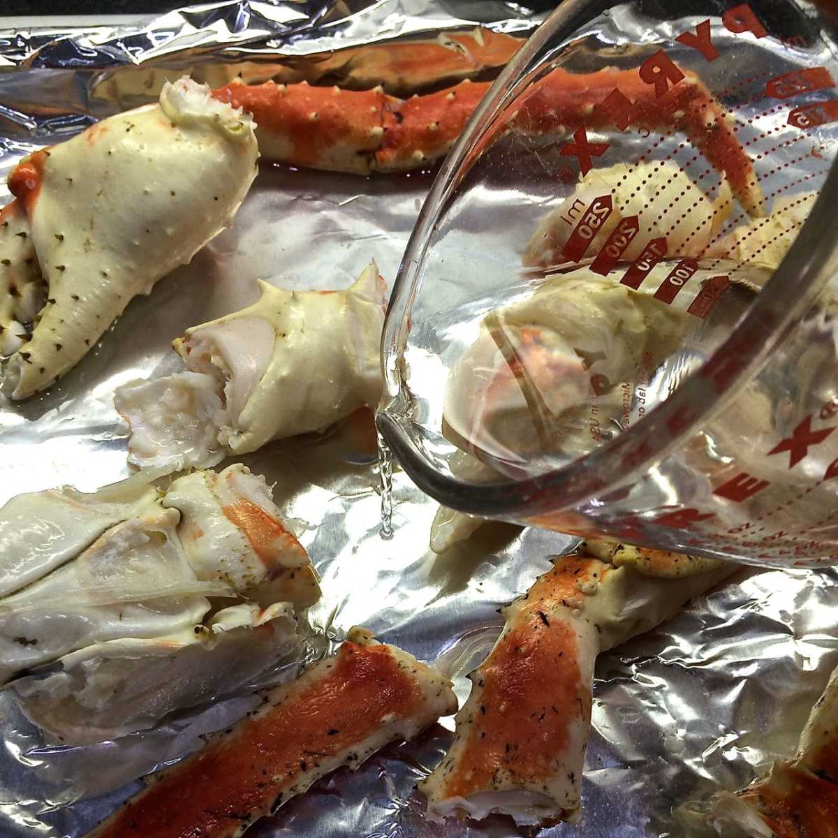 King Crab Legs with Drawn Butter