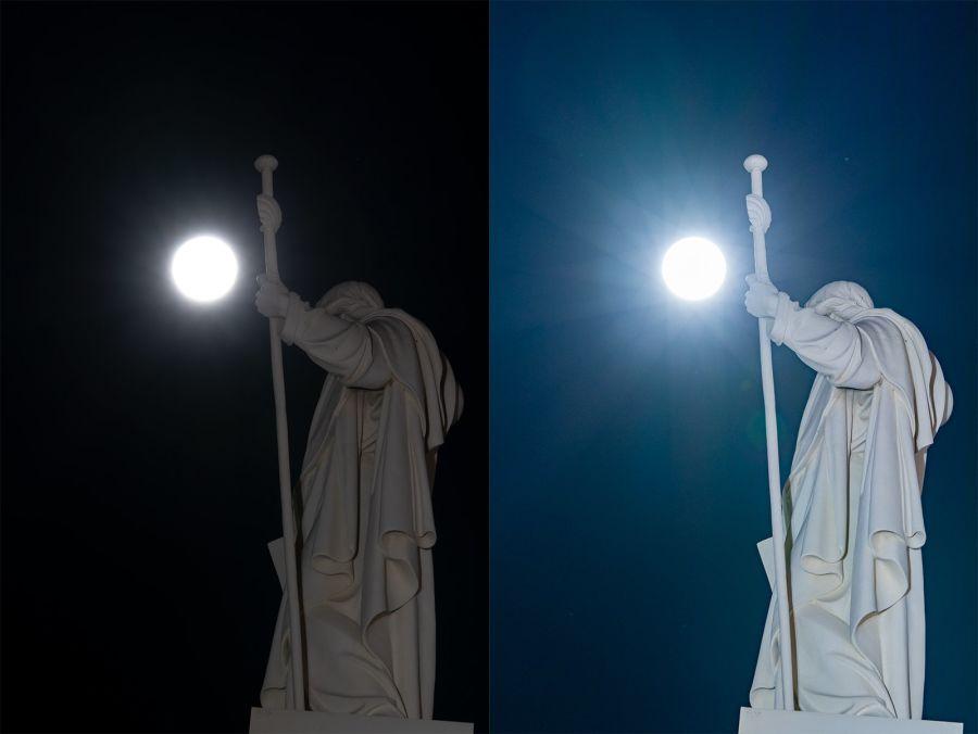 Ennen ja jälkeen kuva kuvankäsittelystä
