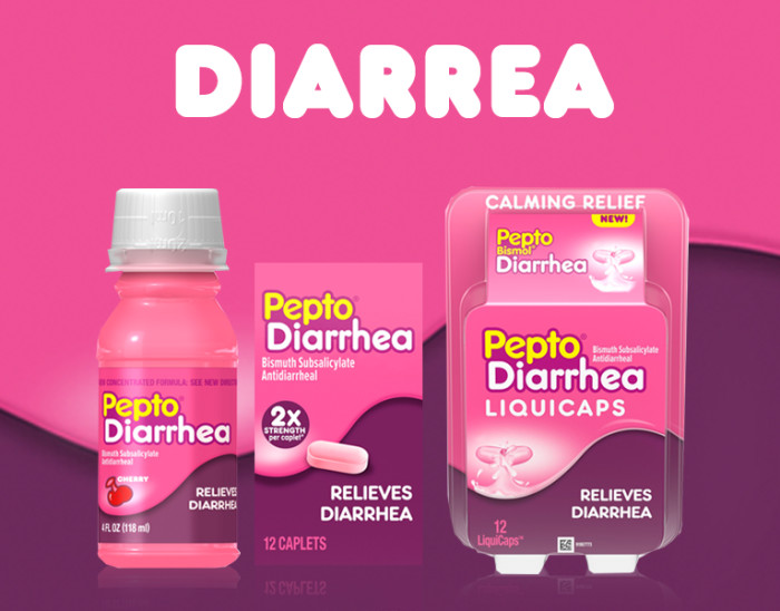 Pepto Bismol Para Aliviar La Diarrea Y El Malestar Estomacal