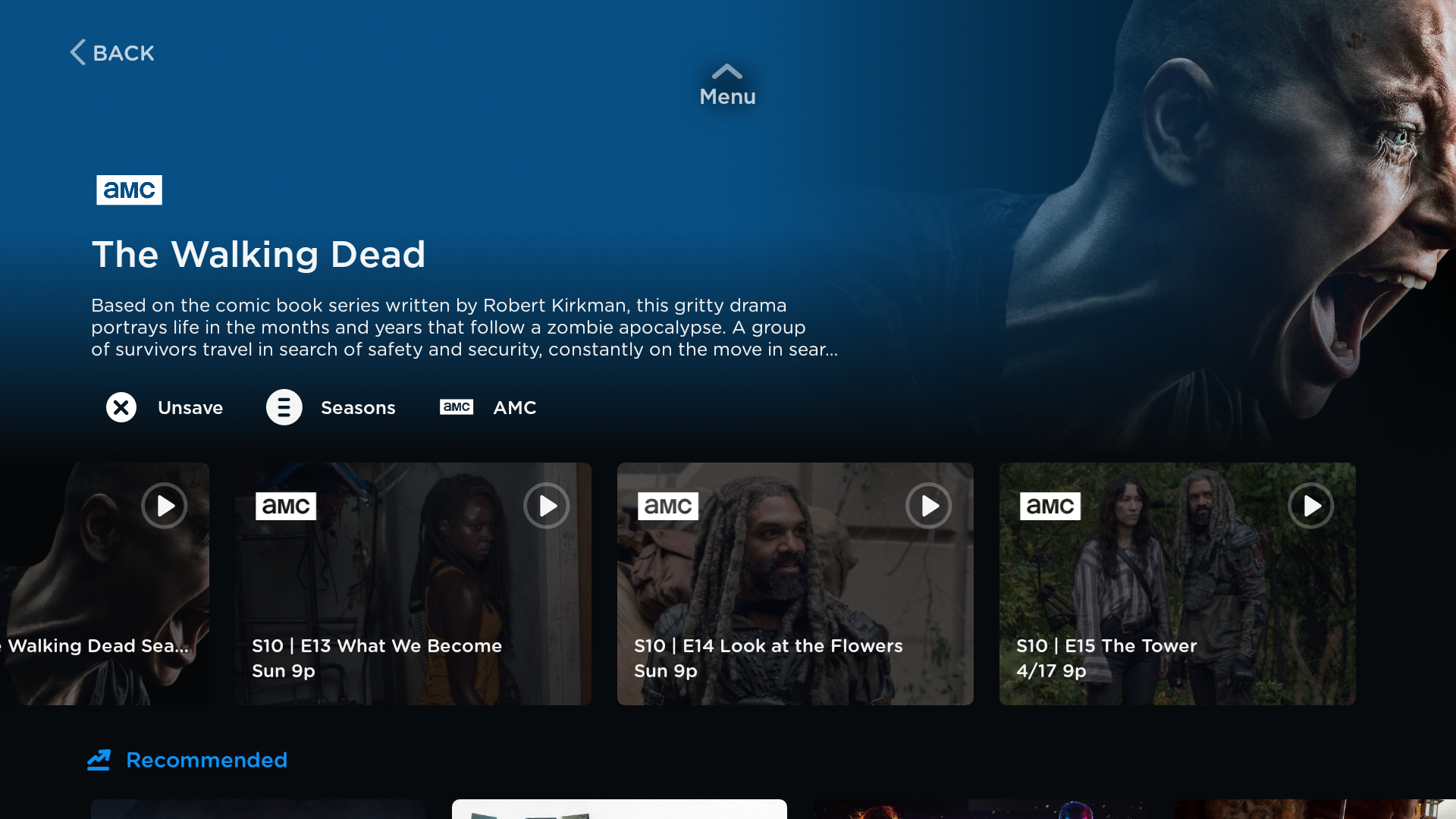 Screenshot Android-Amazon-Fire Show-Guide TWD