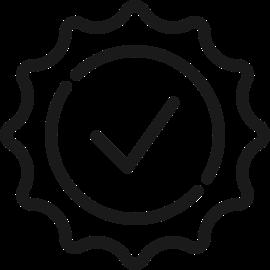 Symbol Haken in Kreis