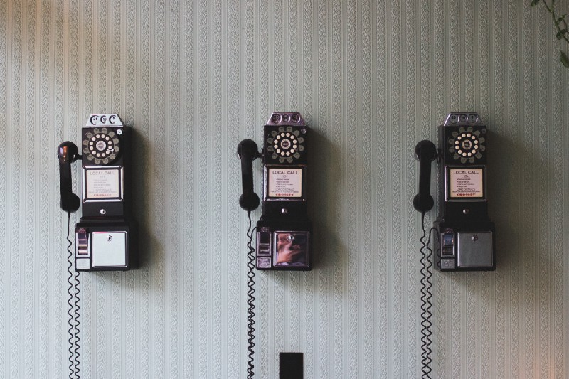 old rotary telephones
