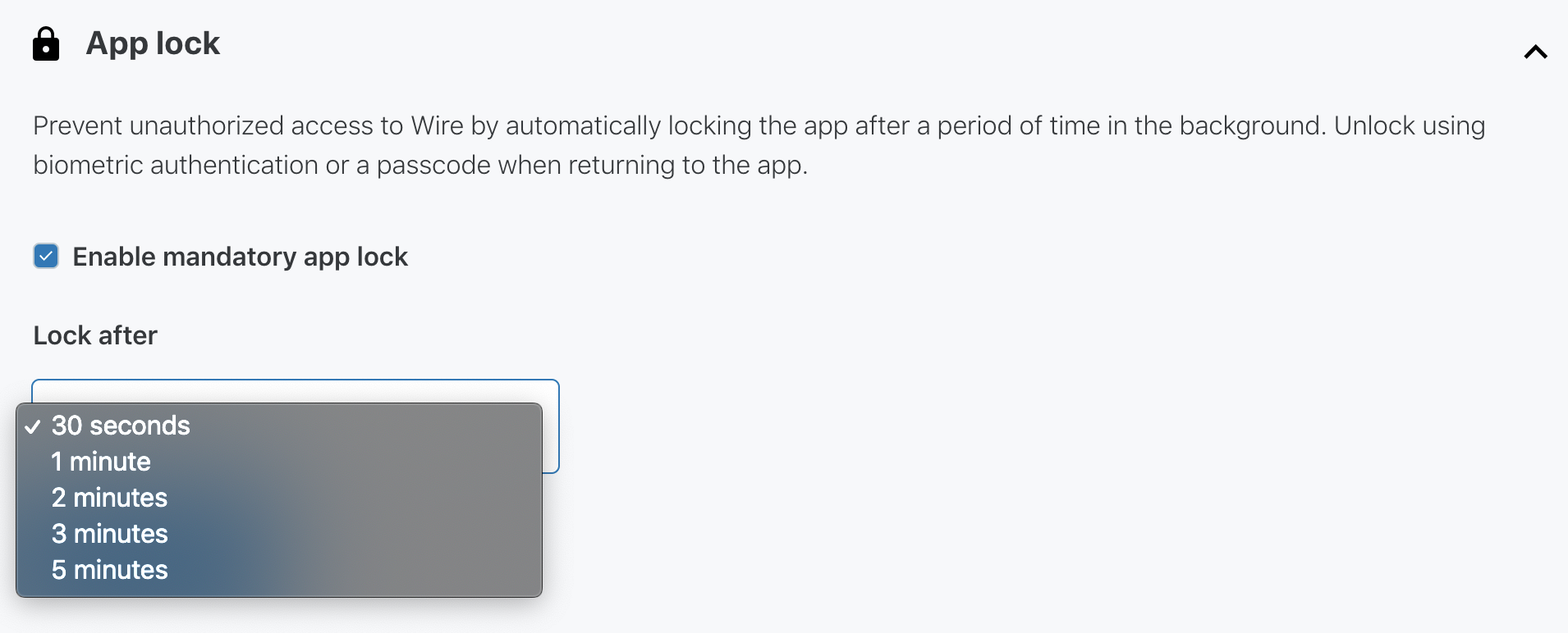App Lock Team Management Setting