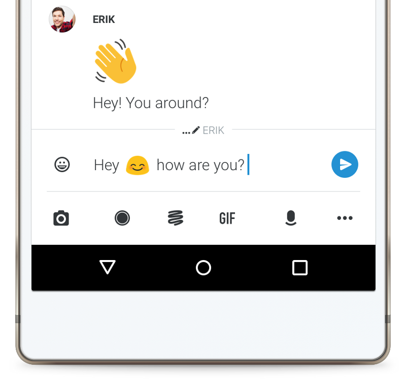 improved messenger input area