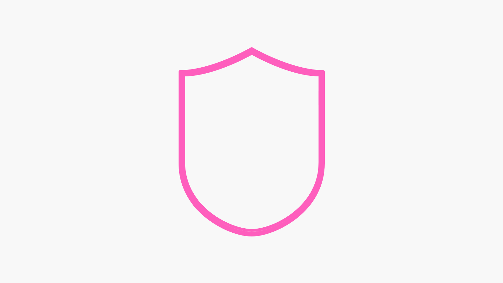 Pink shield - grey background