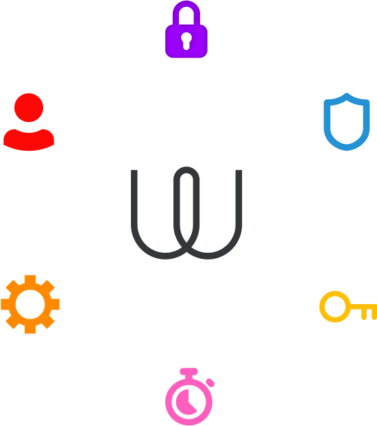 Wire logo with icons