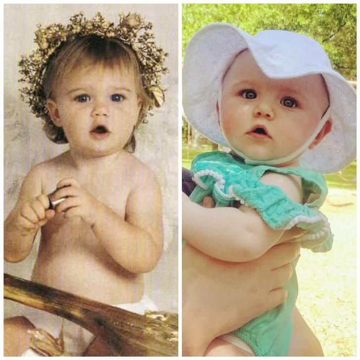 عشرون صورة لأطفال يشبهون آباءهم بشكل خيالي
