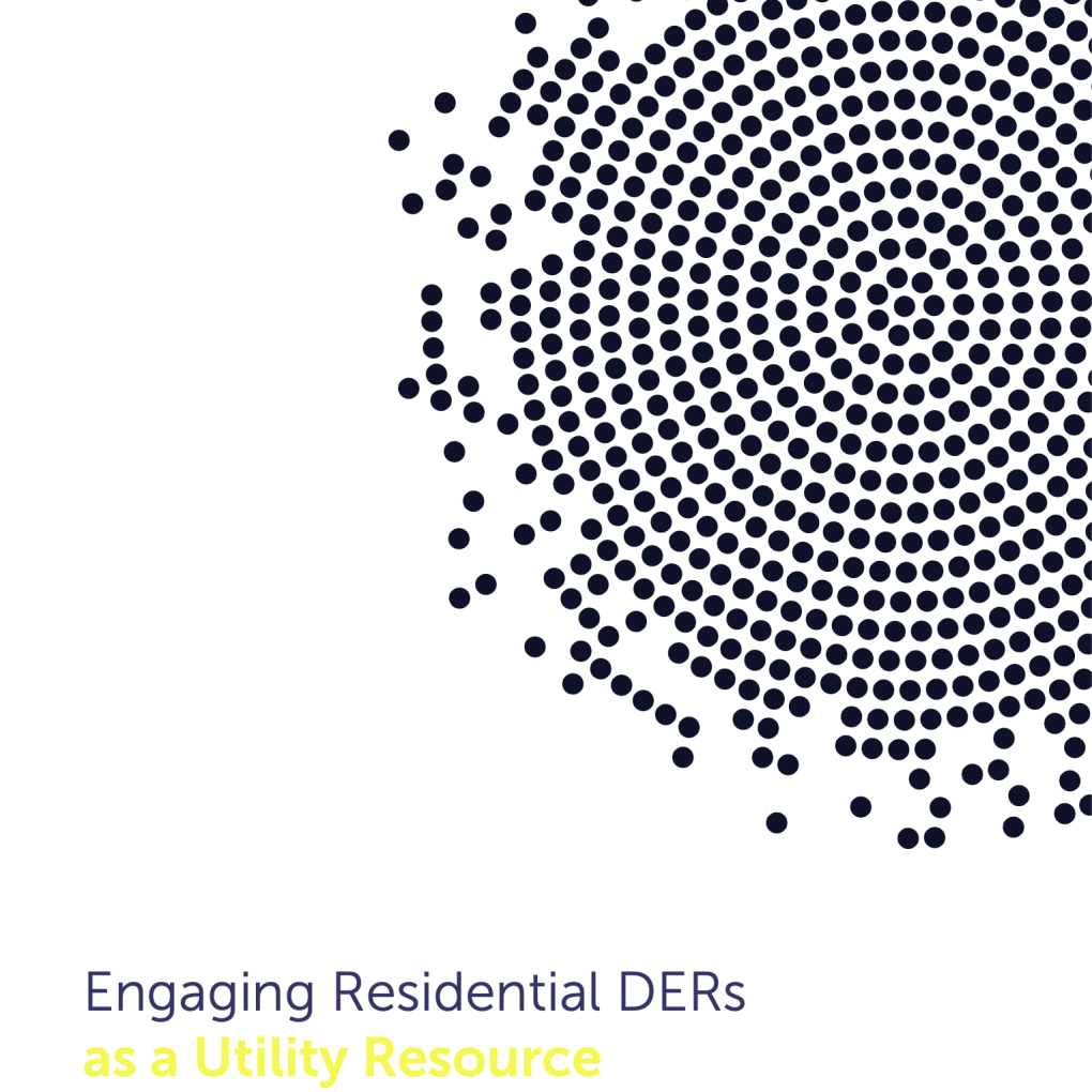 Engaging Residential DERs as a Utility Resource