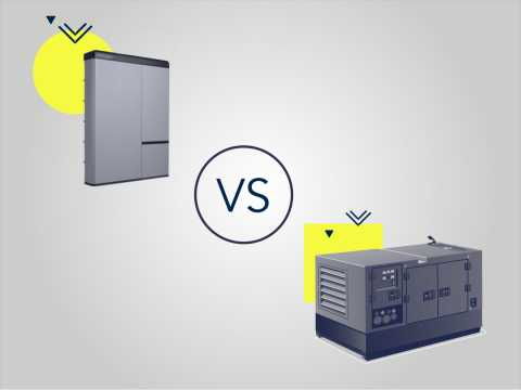 Home battery backup systems vs. standby generators