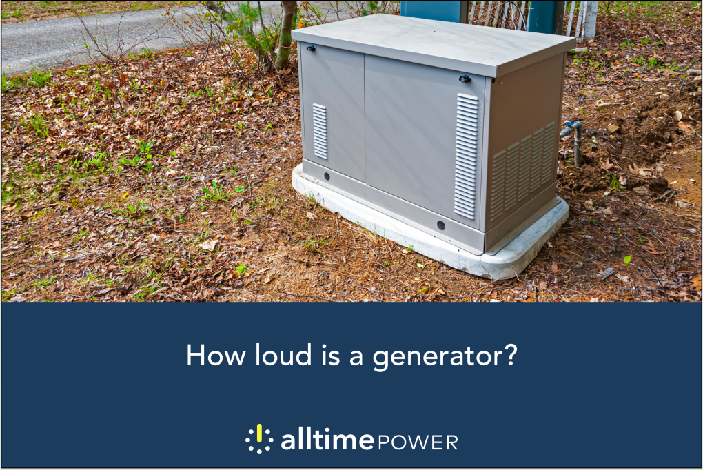 How loud is a generator?