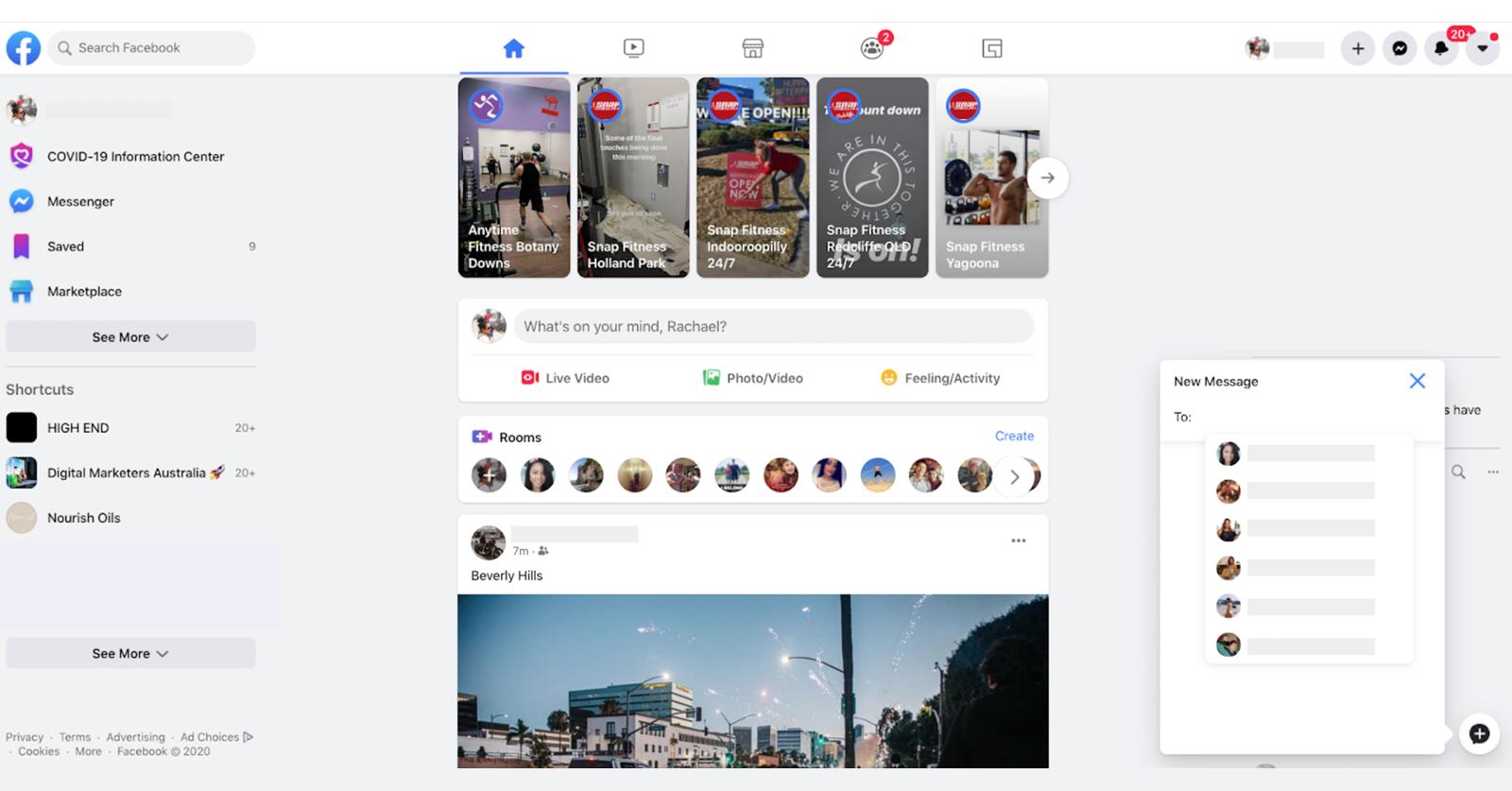 New Facebook Design