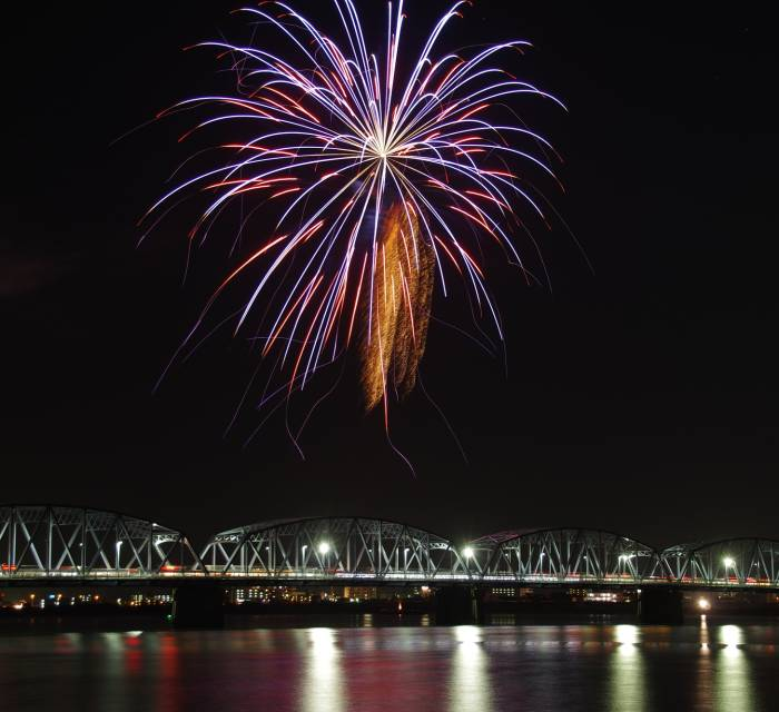 Yoshinogawa Fireworks Display 01