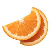 Two orange slices.