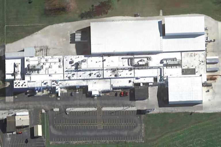 An aerial view of the Seelyville Production Facility