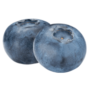 Two blueberries.