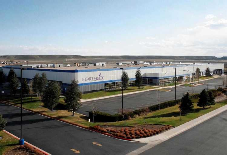 A large warehouse, representing Hearthside's acquisition of Greencore US