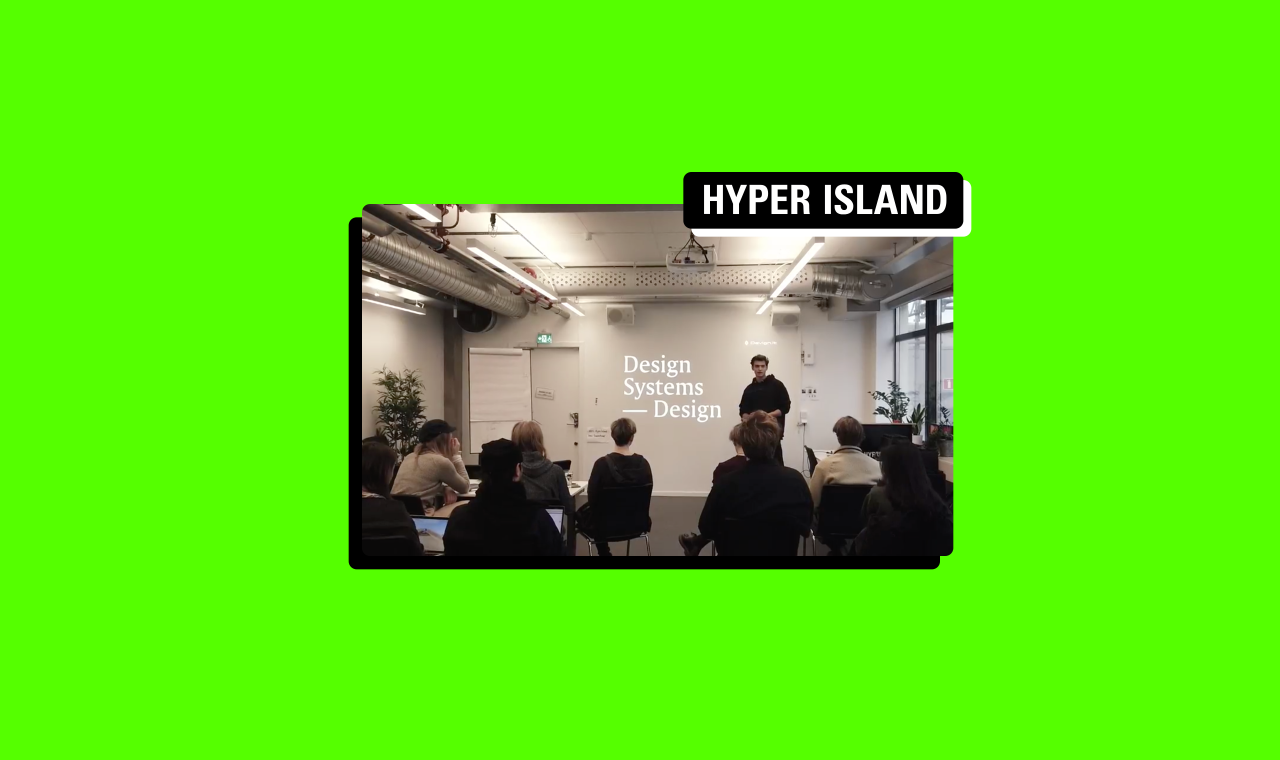 3-Day workshop 'Design Systems' at Hyper Island