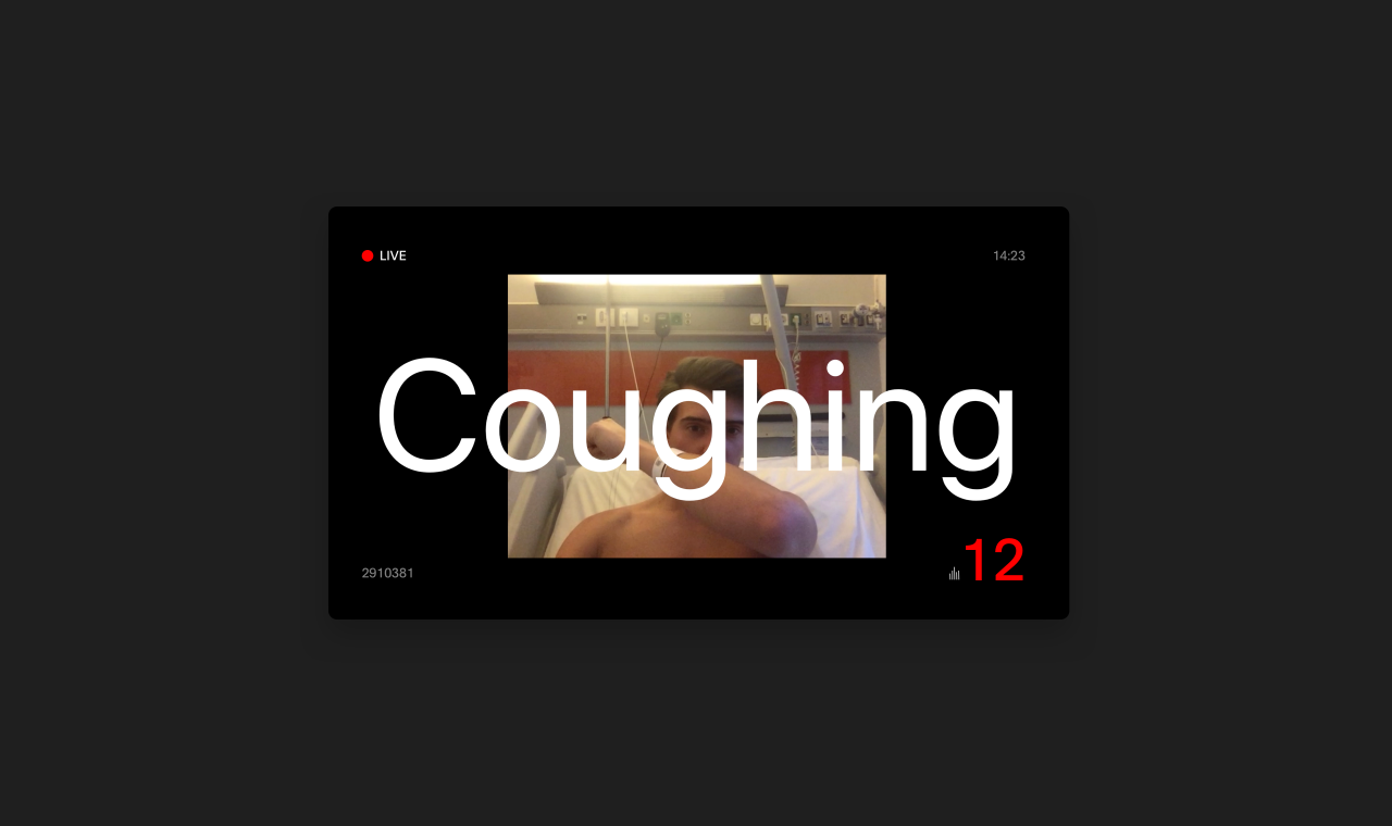 Recognise coughing in hospitals with machine learning