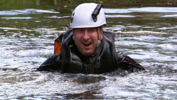 Andy Whyment swimming