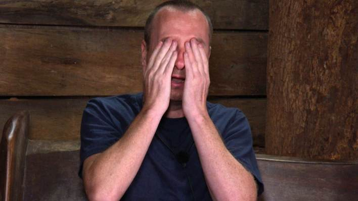 I'm A Celebrity Andy Whyment upset