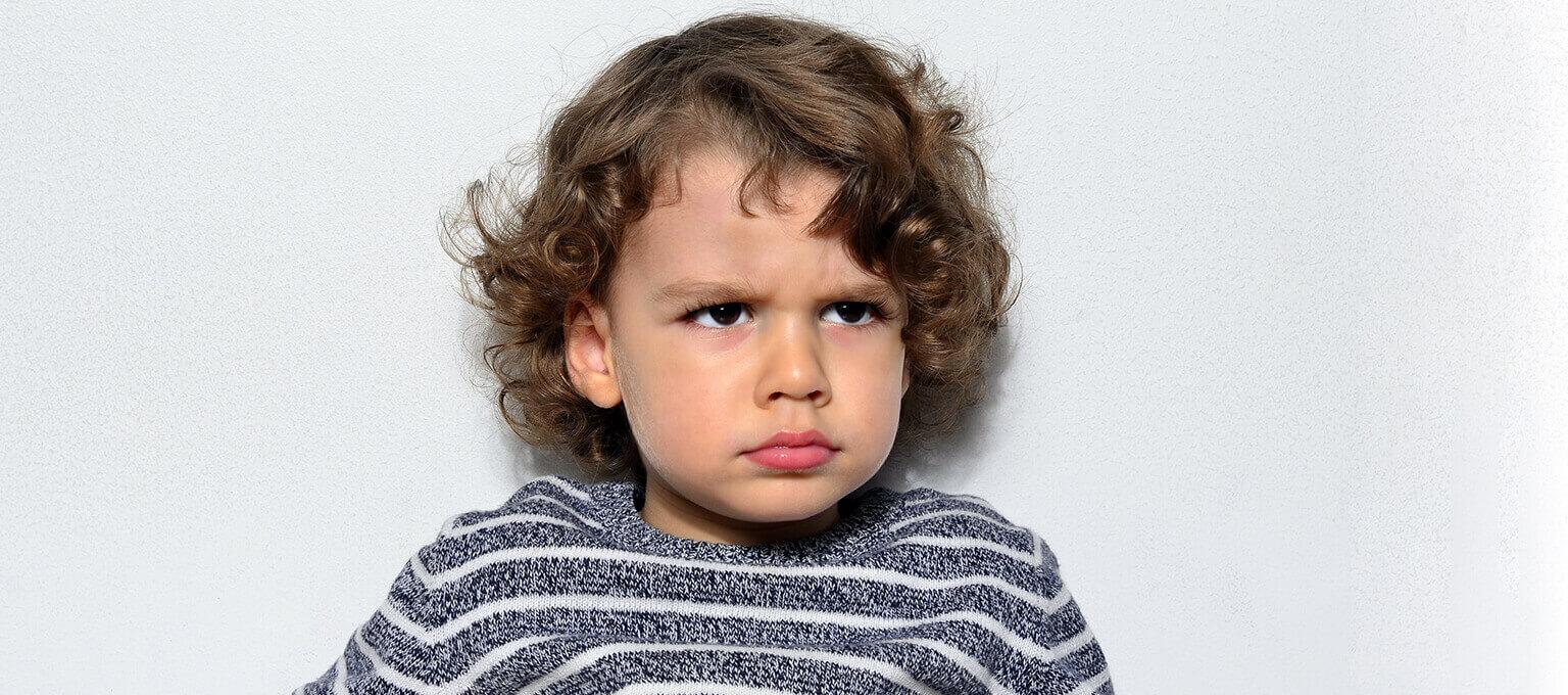 Toddler making tantrum