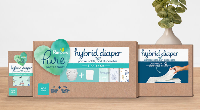 Pampers® Pure Protection Hybrid Diaper