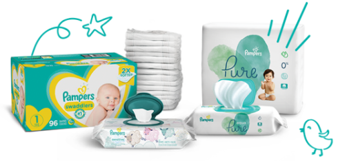 Pampers Newborn Diapers and Wipes