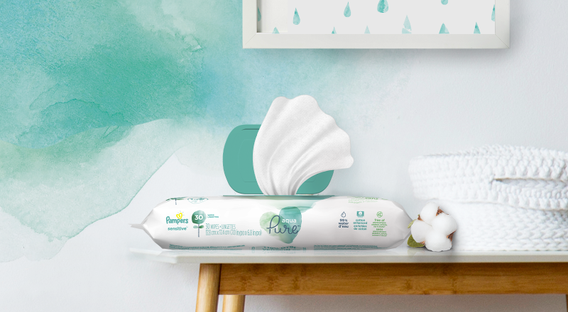 Pampers® Aqua Pure Wipes