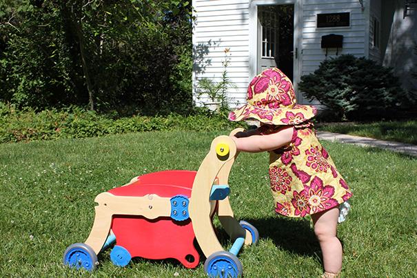 Cuando los bebés están aprendiendo a caminar