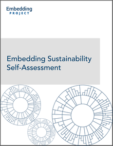 Embedding Sustainability Self-Assessment cover