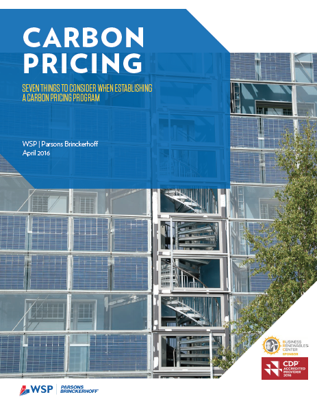 Carbon pricing: Seven things to consider when establishing a carbon pricing program  cover