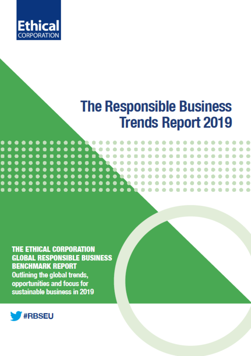 Responsible Business Trends Report 2019 cover