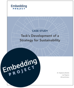 Teck's Strategy for Sustainability cover