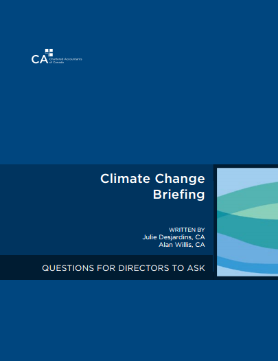 Climate Change Briefing: Questions for Directors to Ask cover
