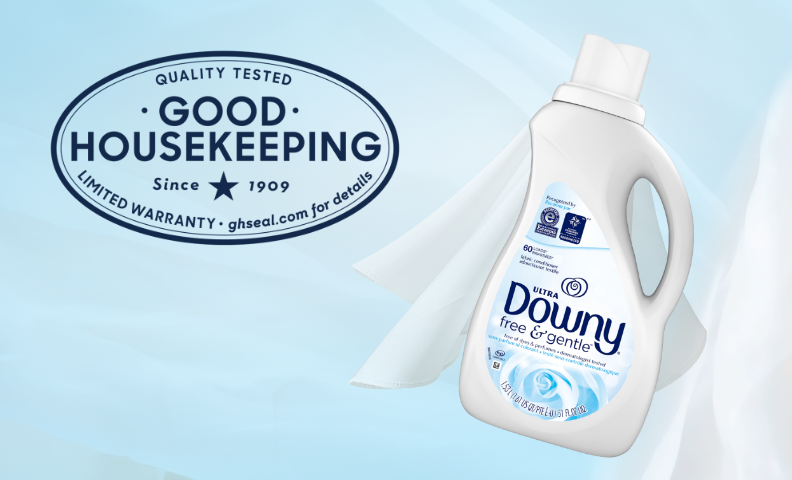 Downy Free & Gentle Fabric Softeners are tested for quality and running since 1909