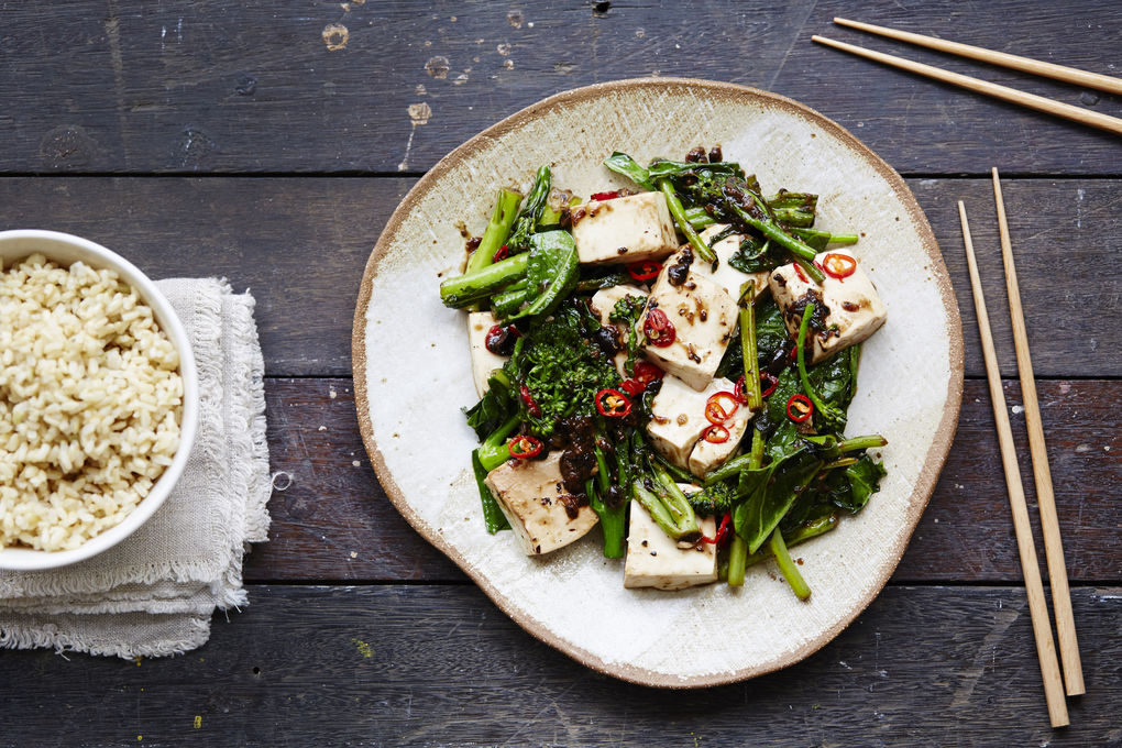 Pepper Tofu and Broccoli Stir Fry
