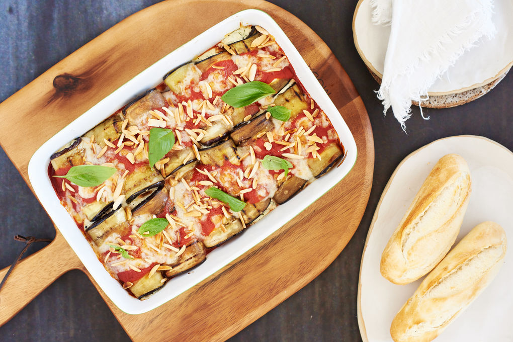 Eggplant Rollatini with Ricotta Parmesan Filling