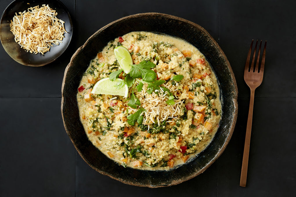 Vegetable and Quinoa Red Curry with Toasted Coconut