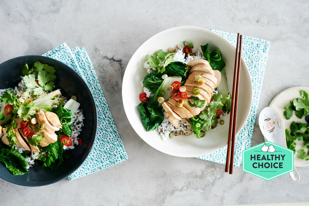 Chai-Poached Chicken with Sesame Rice