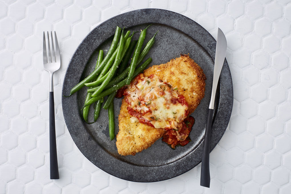 Chicken Parmigiana with Cheddar and Thyme