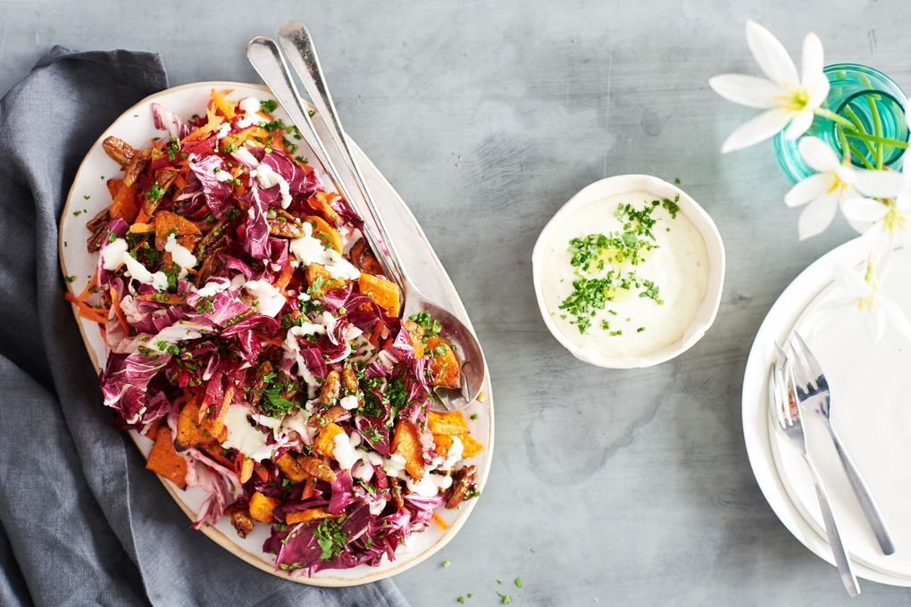 Autumn Salad with Goat's Curd Dressing