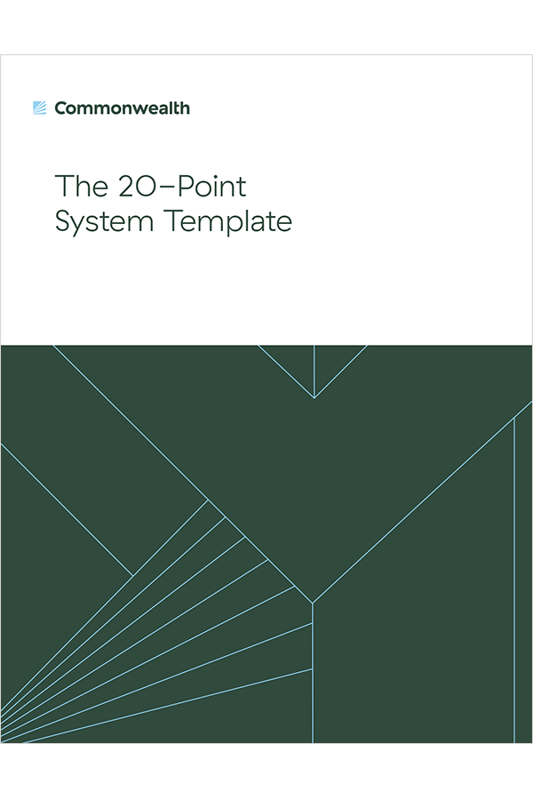 20 Point System Template - offer cover