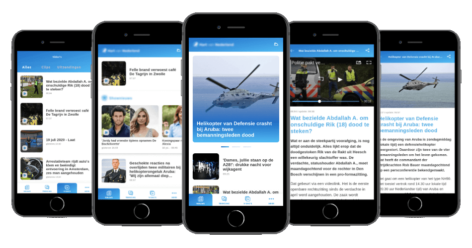 Mobile app for news platform