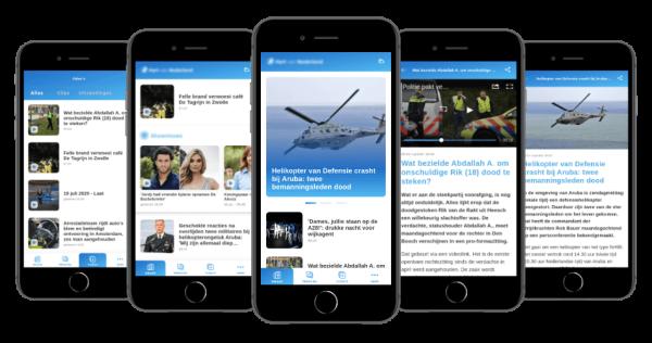 Mobile app for news platform