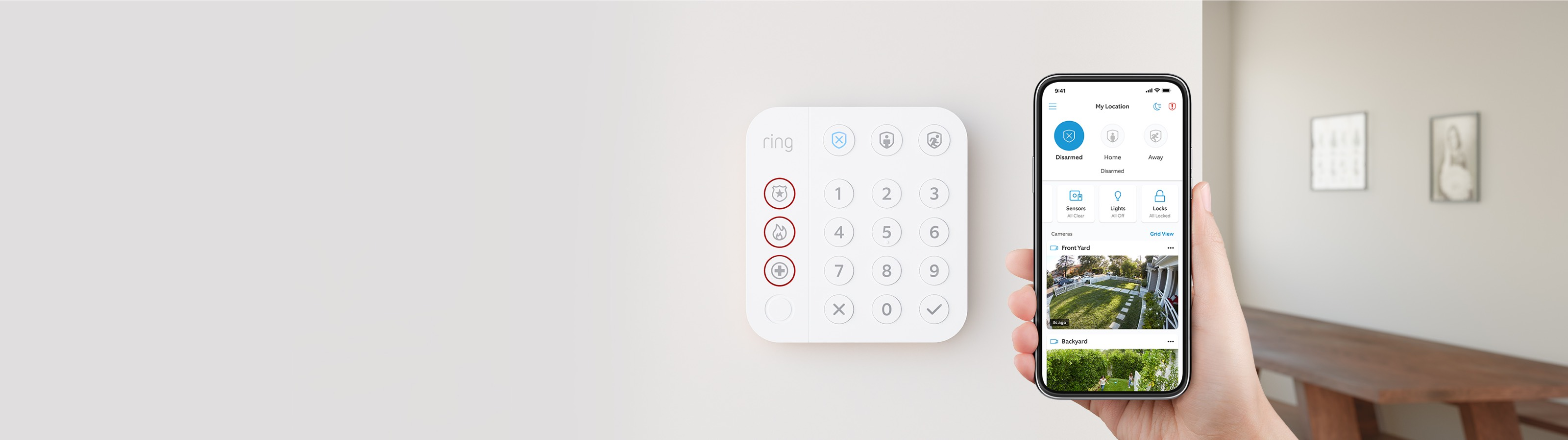 Customized Smart Home Security Alarm System Ring