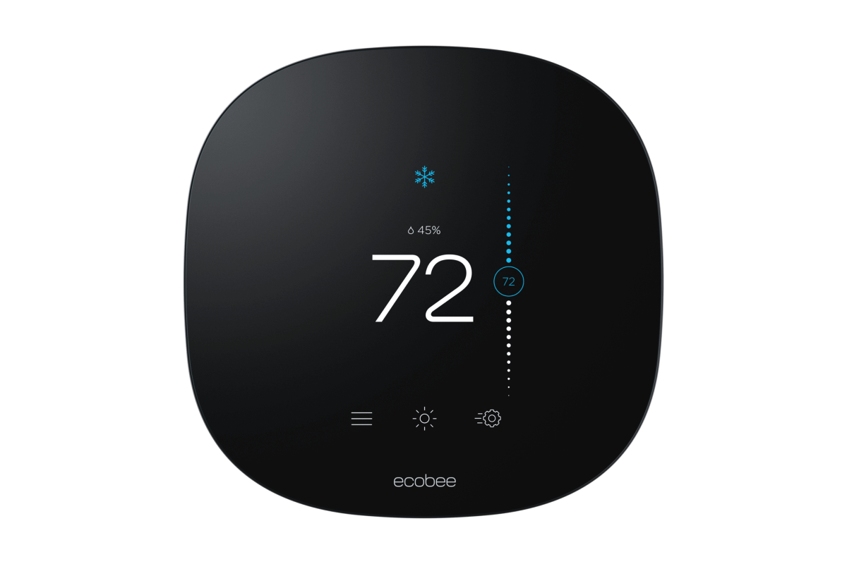 e3lite smart thermostat frontview