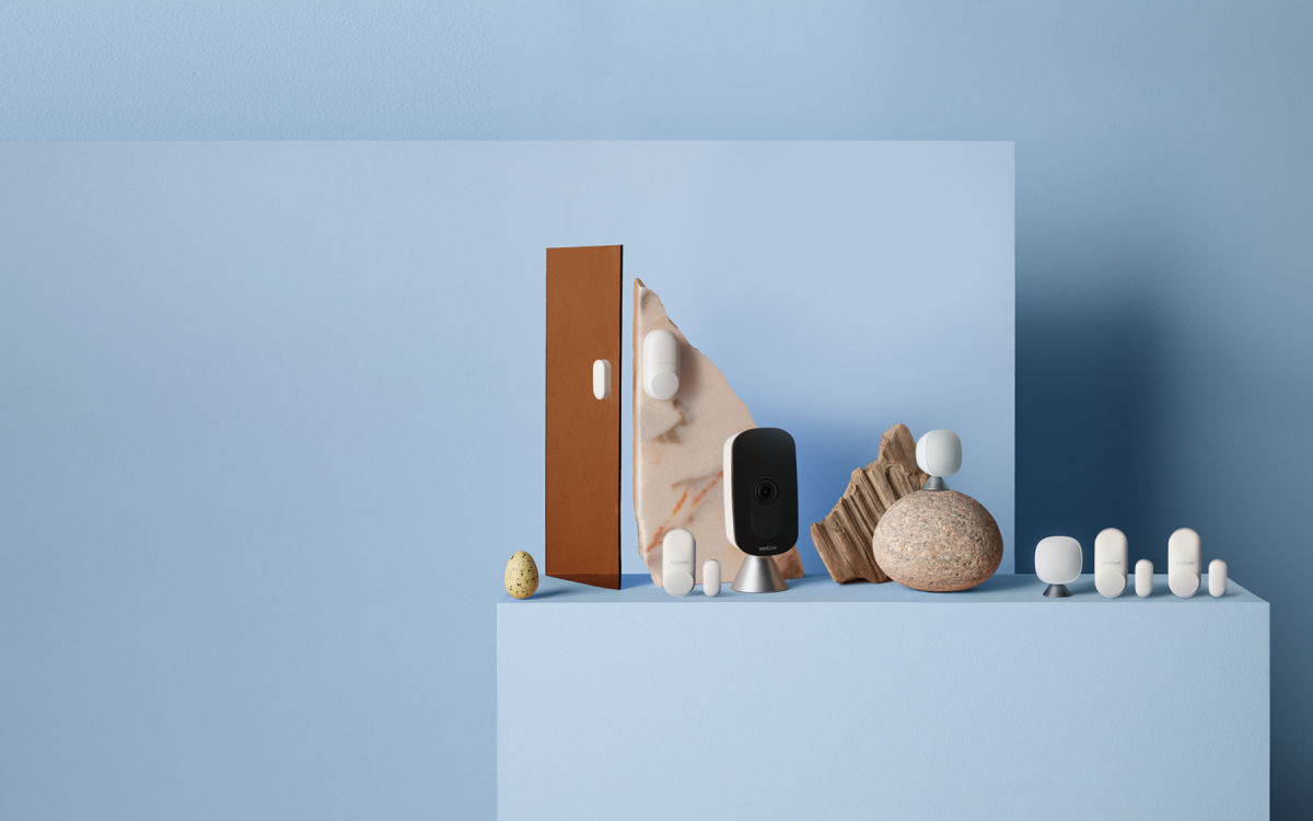 ecobee SmartCamera with voice control, with 2 SmartSensors and 4 SmartSensors for doors and windows.