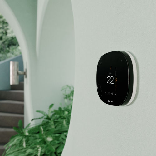 smart thermostat mounted