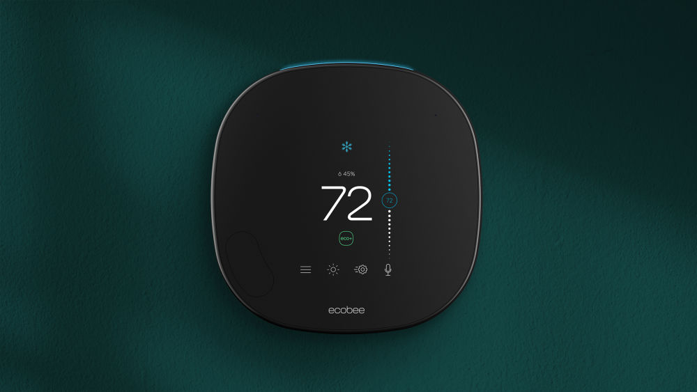 eco+ upgrades the intelligence in all ecobee thermostats with the squircle shape, including ecobee3, ecobee3 lite, ecobee4, and ecobee SmartThermostat with voice control. The eco+ icon appears on the thermostat's touchscreen when it is working.