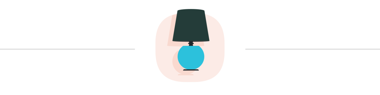 Illustration of a blue lamp